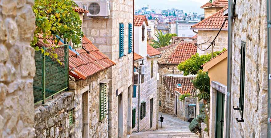 Straße in Split in Kroatien