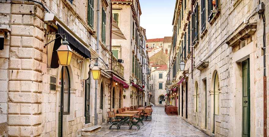 Stradun in Dubrovnik in Kroatien
