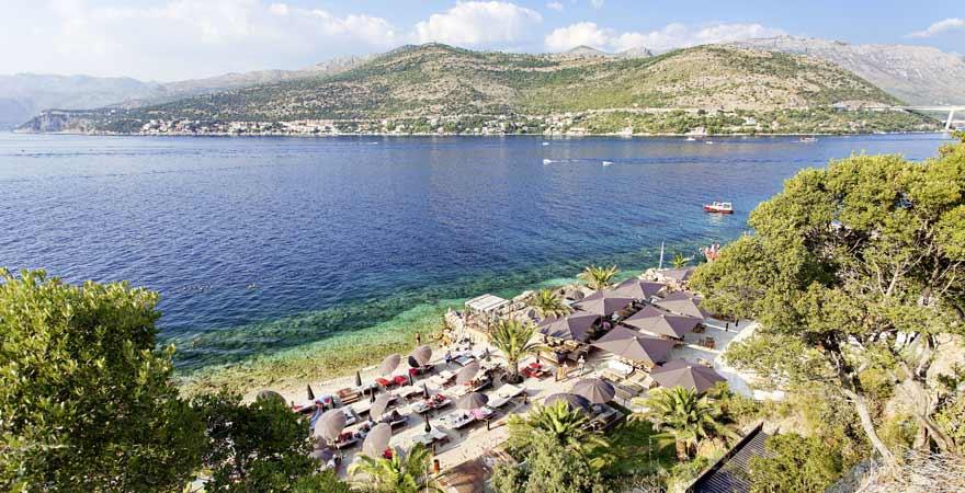 Strand Lapad in Kroatien