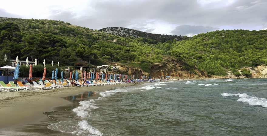 Strand Sunj auf Lopud in Kroatien