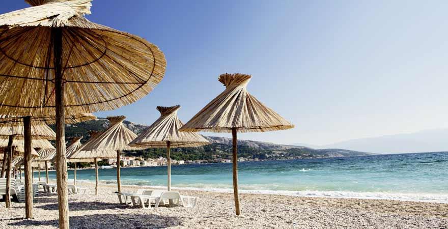 Strand auf Krk in Kroatien