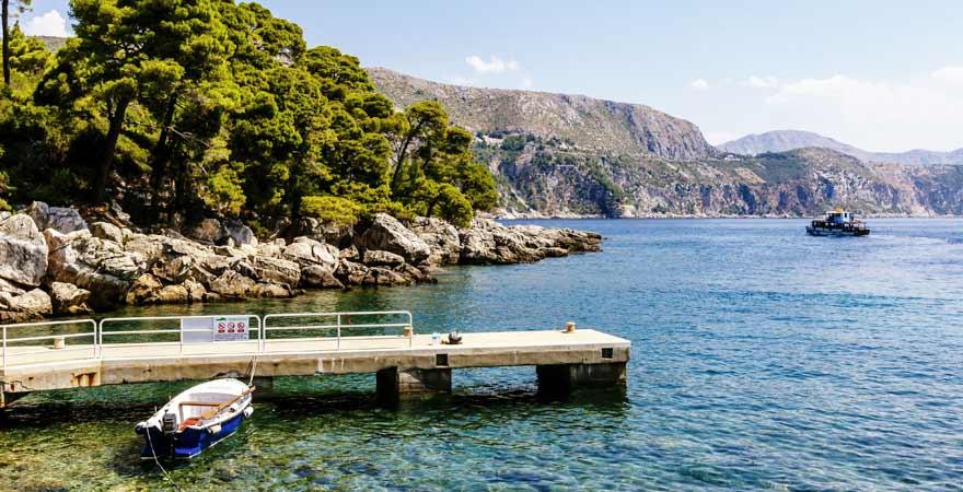Strand auf Lokrum in Kroatien