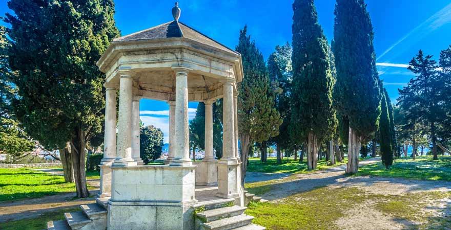 Sustipan Park in Split in Kroatien
