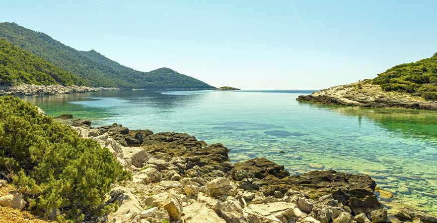 Veliko Jezero auf Mljet in Kroatien