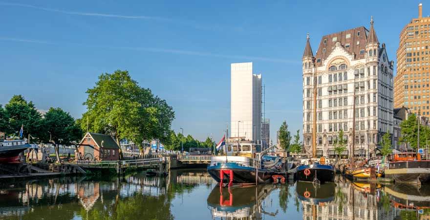 Alter Hafen und Witte Huis in Rotterdam in den Niederlanden
