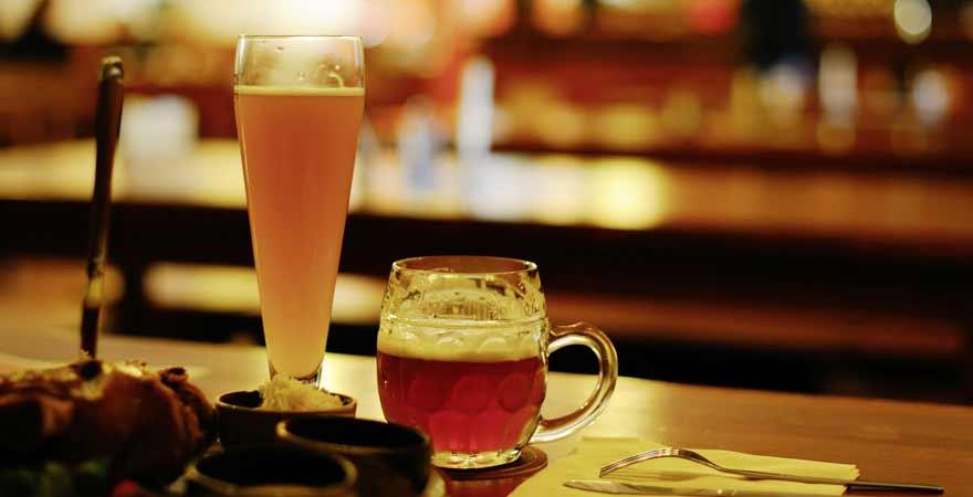 Bier im Wirtshaus