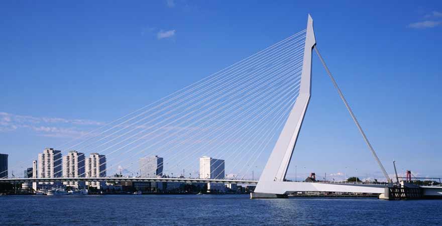 Erasmusbrücke in Rotterdam in den Niederlanden