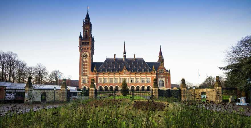 Friedenspalast in Den Haag in den Niederlanden