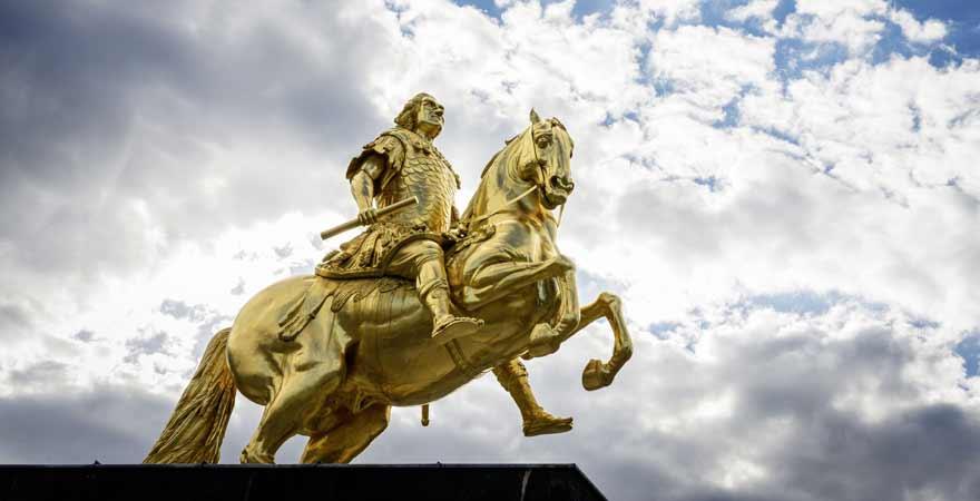 Goldener Reiter in Dresden