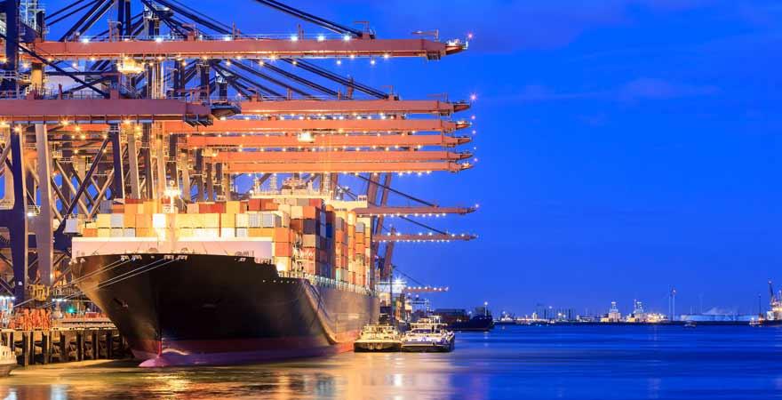 Hafen in Rotterdam in den Niederlanden