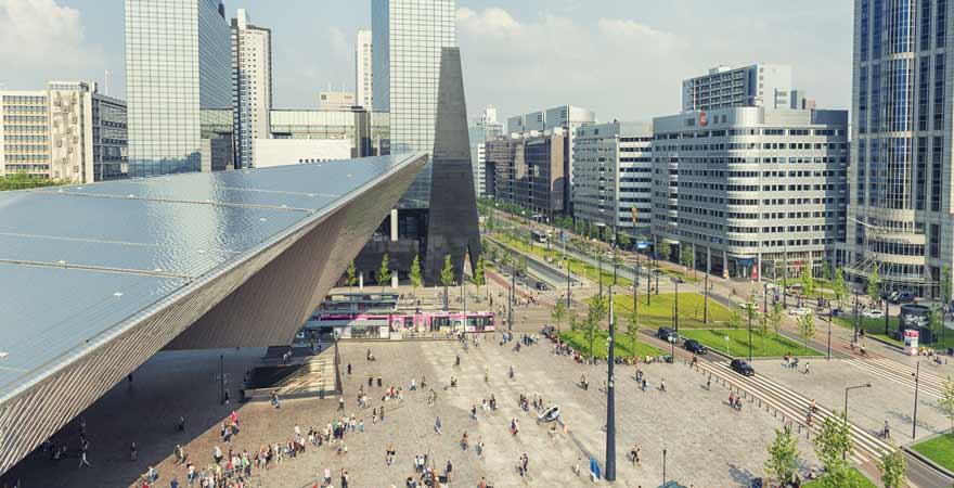 Hauptbahnhof in Rotterdam in den Niederlanden