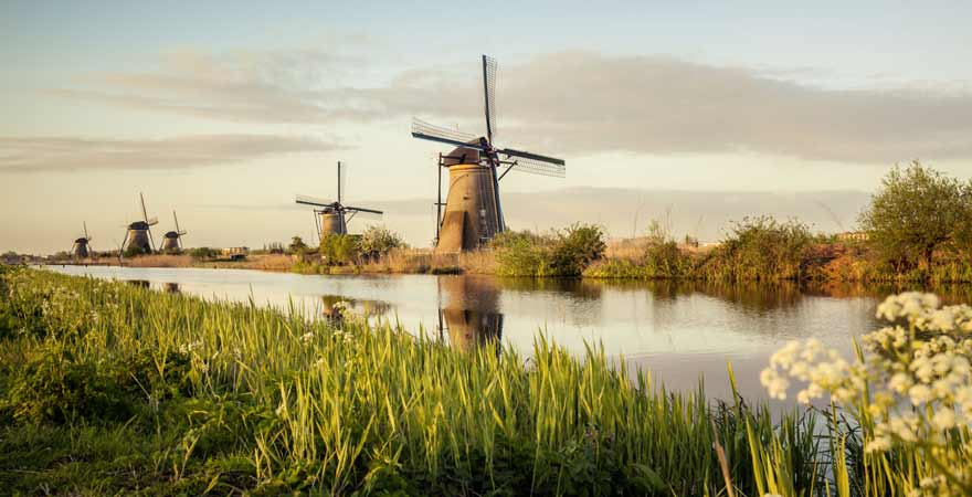 Kinderdijk in den Niederlanden