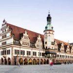 Marktplatz und Altes Rathaus in Leipzig