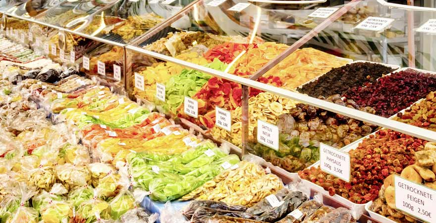Naschmarkt in Wien in Österreich