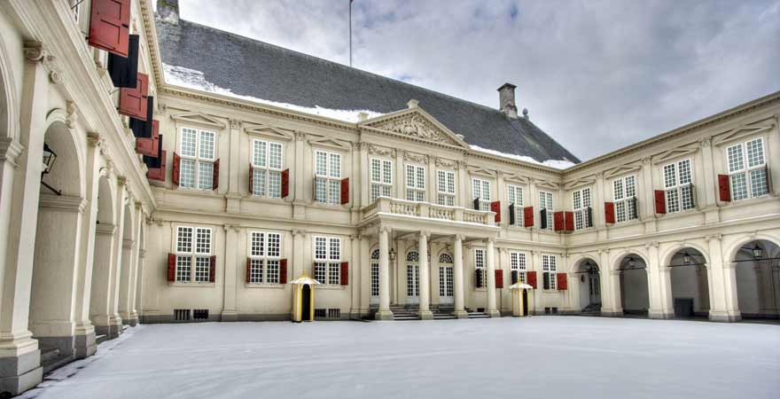 Palast Noordeinde in den-Haag in den Niederlanden