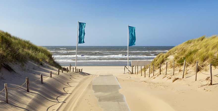 Strand bei Noordwijk in den Niederlanden