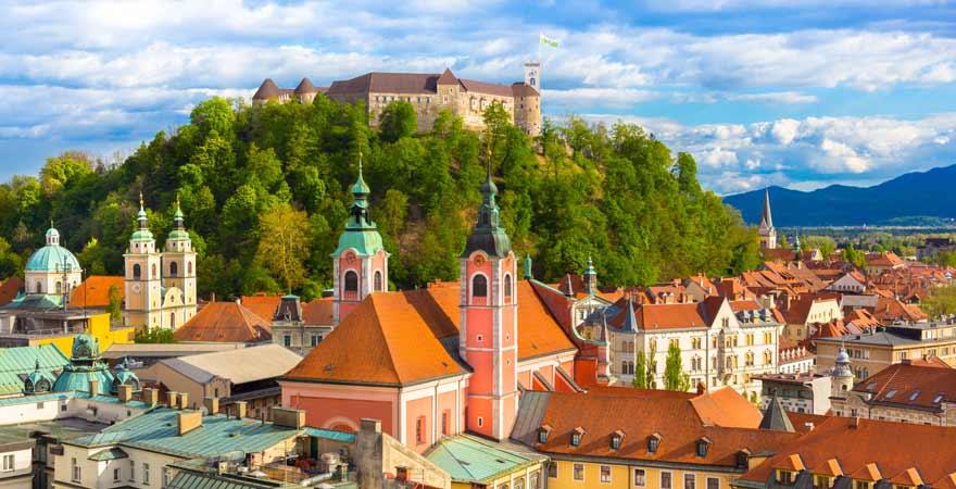Burg von Ljubljana in Slowenien