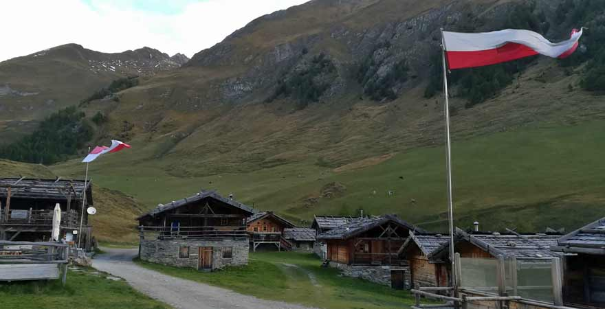 Fanealm in Vals in Südirol