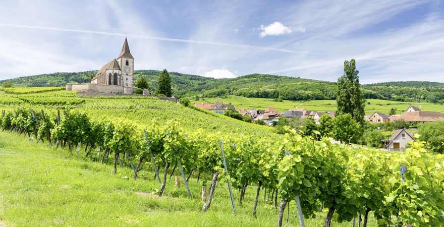 Hunawihr im Elsass in Frankreich