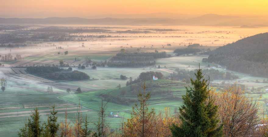 Ljubljansko Barje in Slowenien
