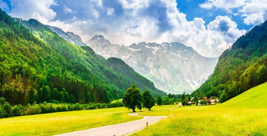 Logarska Dolina in slowenien