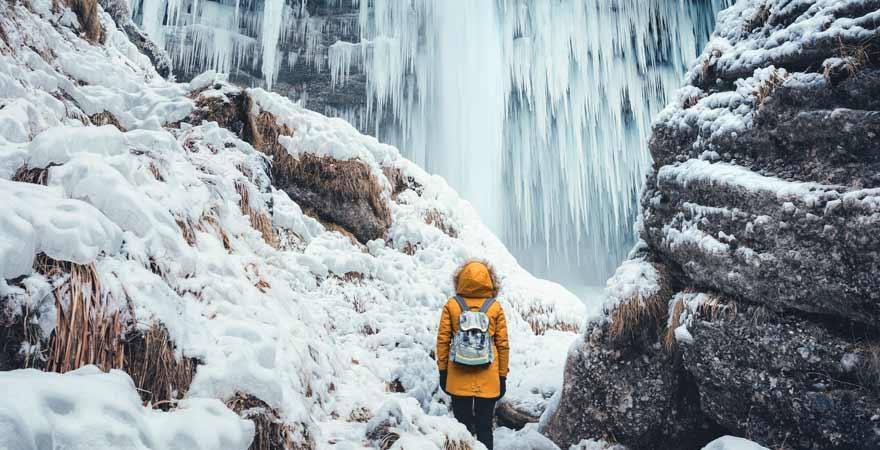 Pericnik Wasserfall in Slowenien