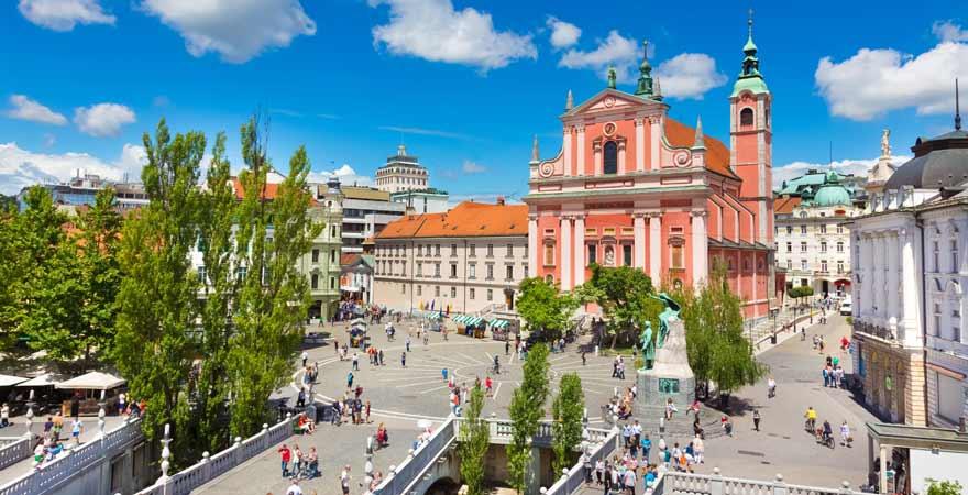 Perseren Platz in Ljubljana in slowenien