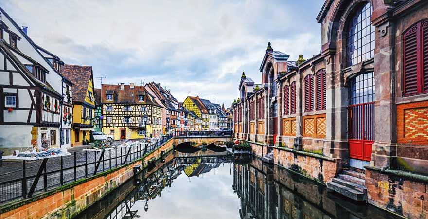 Petit Venise in Colmar im Elsass in Frankreich