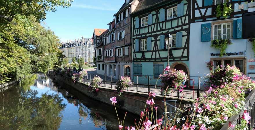 Petite Venise in Colmar im Elsass in Frankreich