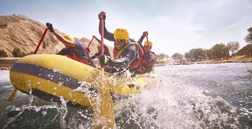 Rafting im Wadi Adventure in Abu Dhabi