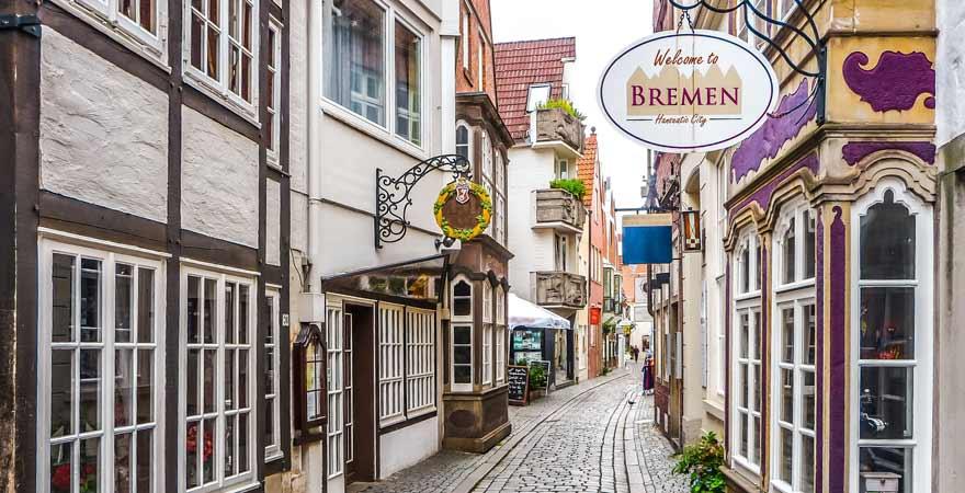 Schnoor Viertel in Bremen