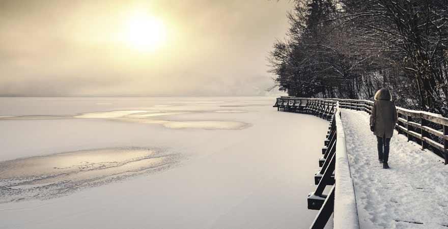 See Celje in slowenien im Winter