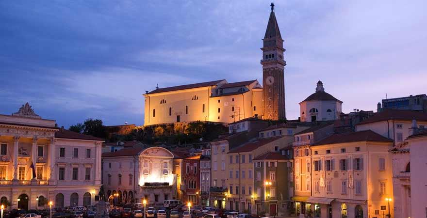 St Georgskirche in Piran in Slowenien