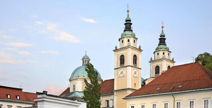 St Nikolaus Kathedrale in Ljubljana