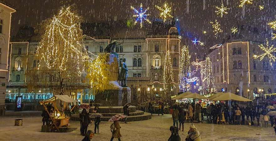 Weihnachtsmarkt in Ljubljana
