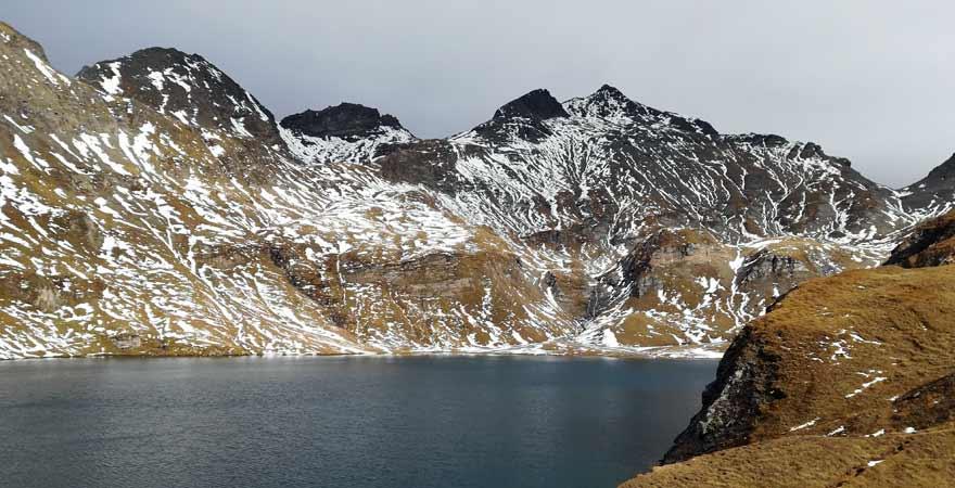 Wilder See mit Blick auf die Wilde Kreuzspitze in Südtirol