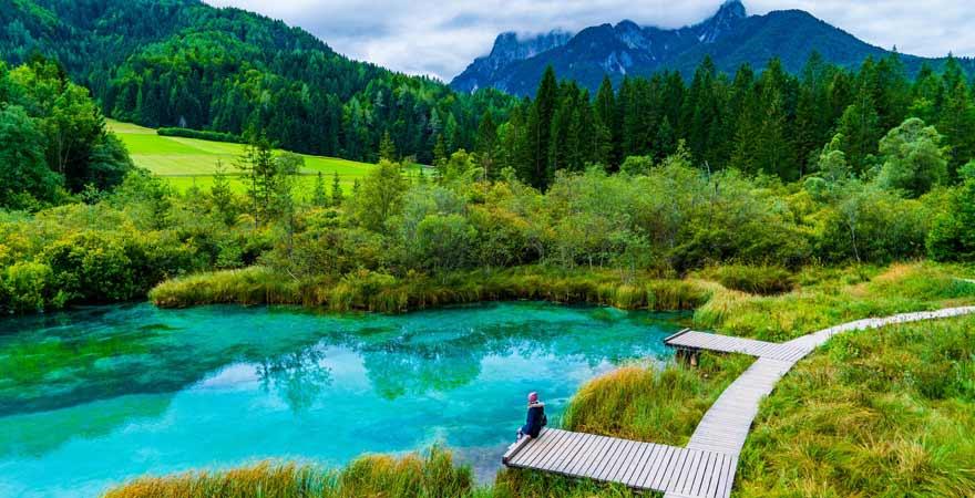 Zelenci See in Slowenien