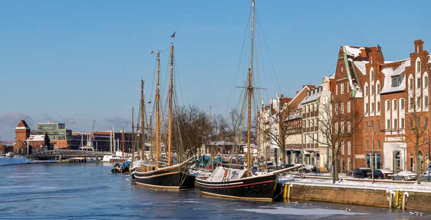 Museumshafen in Lübeck in Deutschland