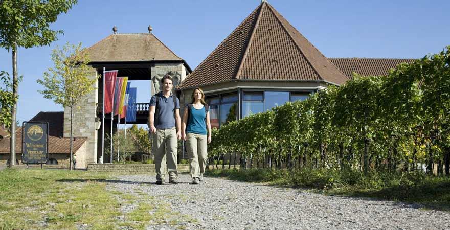 Wandern am Weintor an der Südlichen Weinstraße in der Pfalz