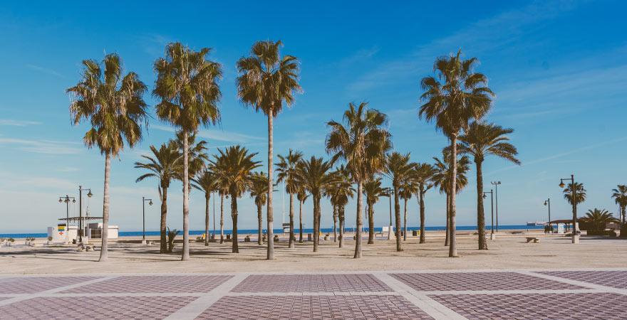 Strandpromenade in Valencia