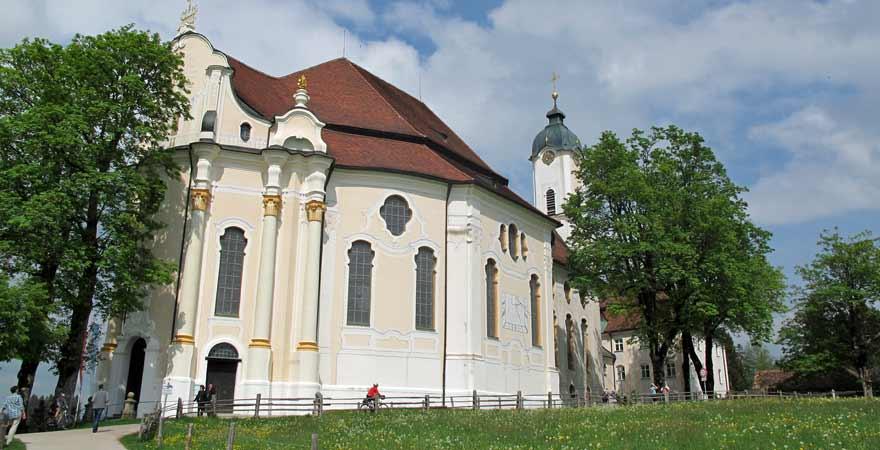 Wallfahrtskirche zum gegeißelten Heillandan der romantischen Straße