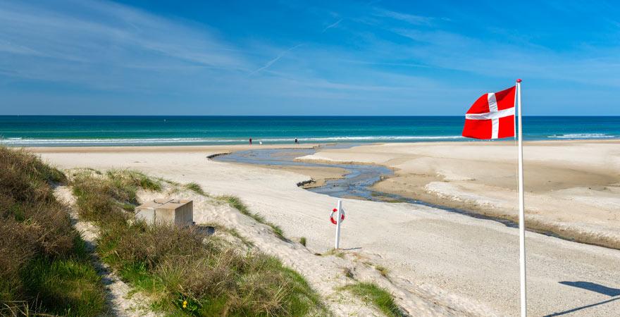 Strand in Blokhus in Dänemark