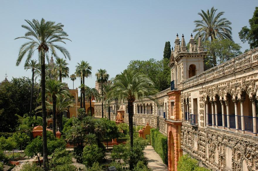Garten im Alacazar in Sevi