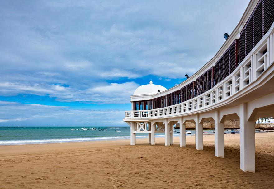 Strand in Cadiz in Spanien