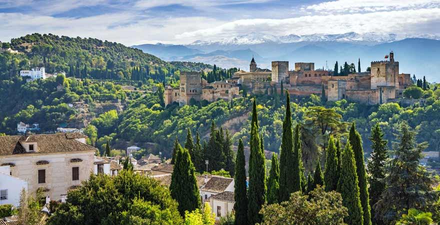 Blick auf Alhambra in Granada