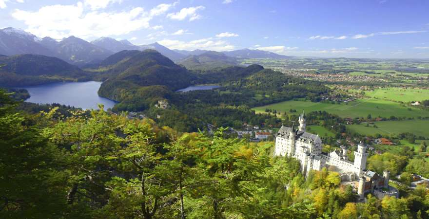 Schloss Neuschwanstein, Allgaeu, Fuessen, Bayern