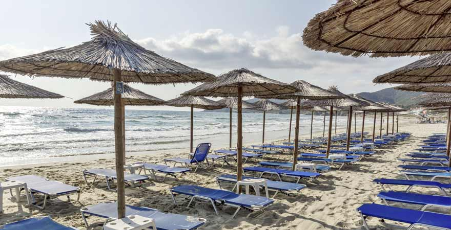 Sarti Beach in Sithonia in Chalkidiki