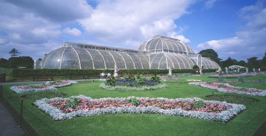 Gewächshaus in den Kew Gardens in London