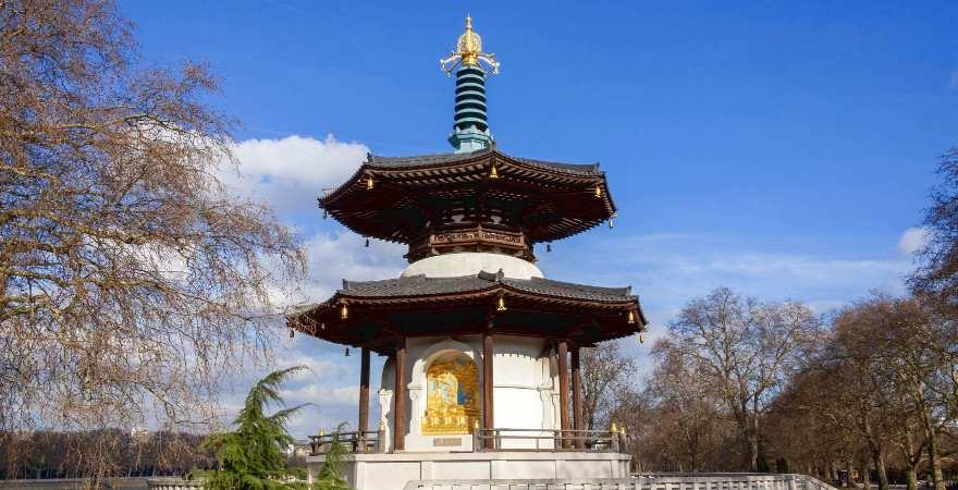 buddhistische Pagode im Battersea Park in London