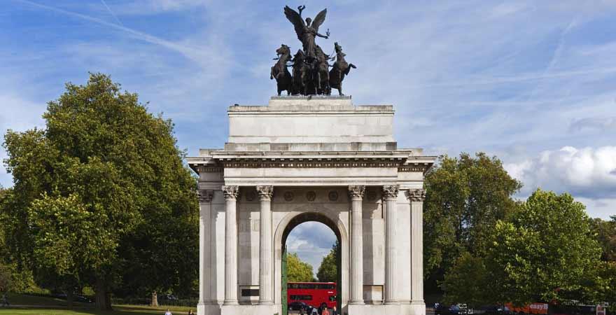 Wellington Arch im Hyde Park in London